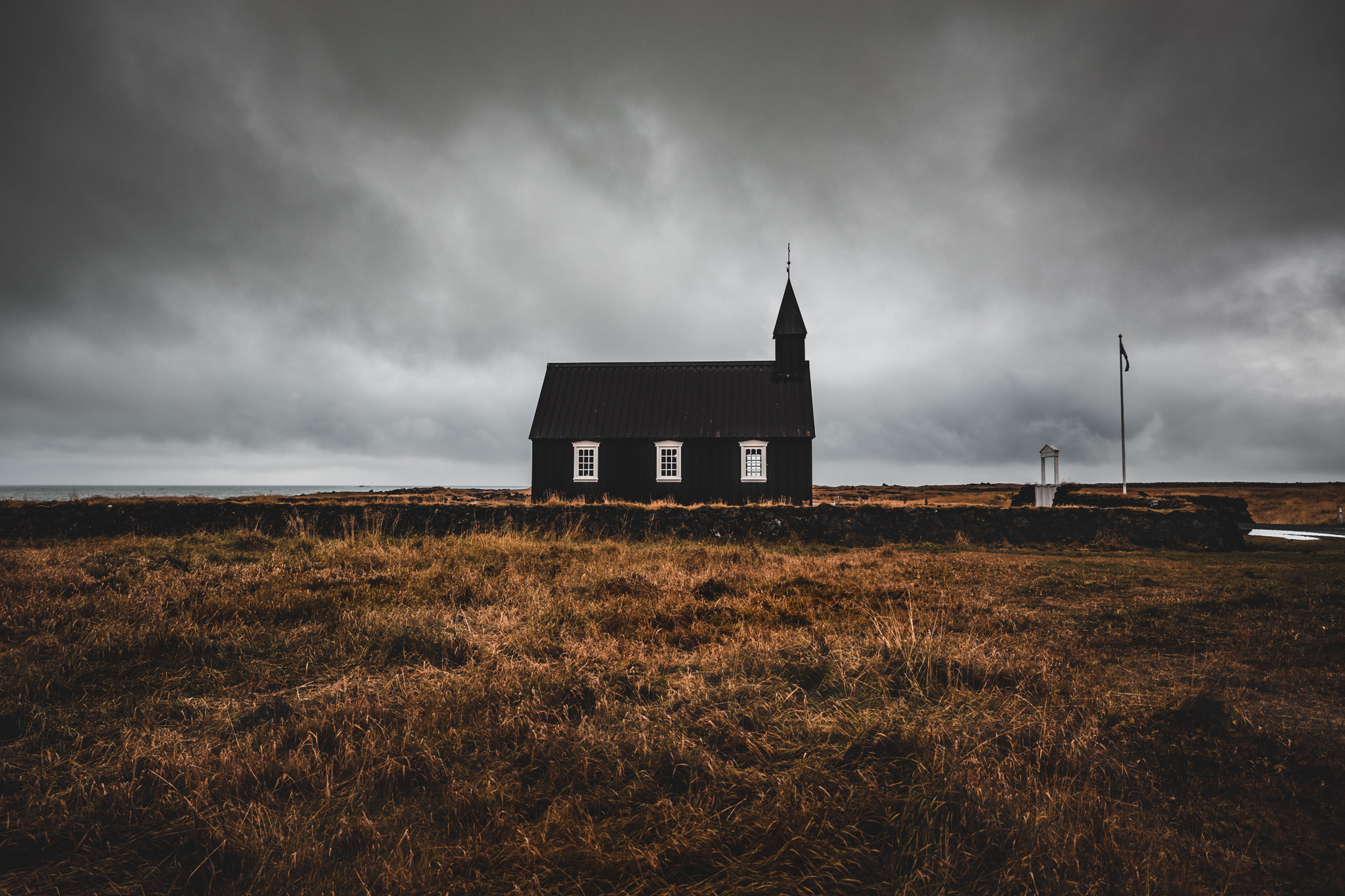 Budir die schwarze Kirche in Island